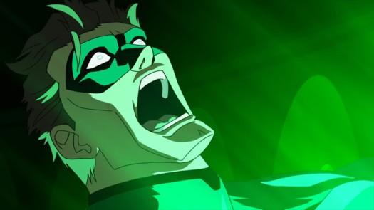 Hal Jordan-Getting A Huge Taste Of The Battery!