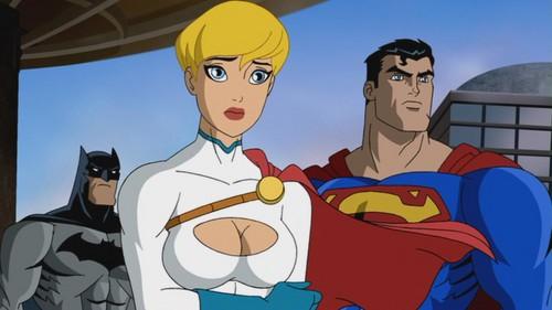 Batman, Superman, & Power Girl-Gonna Save The Day!