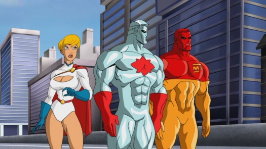 Power Girl, Captain Atom, & Major Force-Trying 2 Sway Supes Towards Lexy Boy!