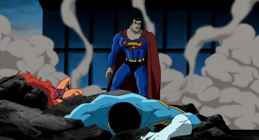 Superman-Taking Out Two Heroes With One Swoop!