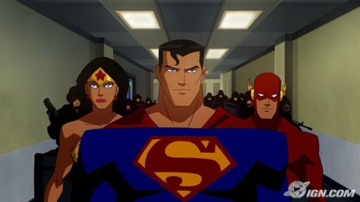 Superman,Wonder Woman, & The Flash-Confronting Luthor!