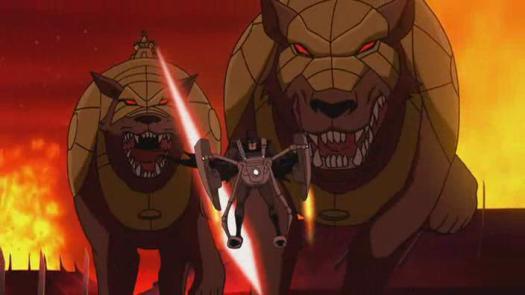 Batman-Gotta Out-Run Some Demon Dogs!