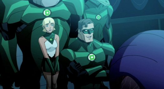 Hal Jordan-Telling GL Tales To Arisia!