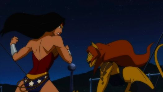 Wonder Woman-About To Get A Fatal Cat-Scratch!