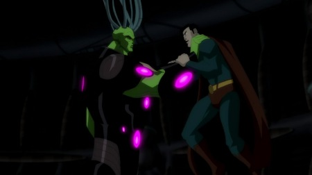 Brainiac-Easily Overpowering The Man Of Steel!