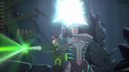 Cyborg & Green Lantern-Fire Away!