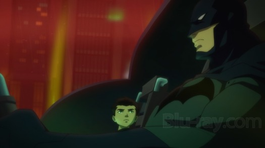 Batman-Back To The Batcave With His Son!