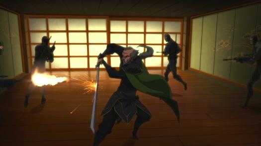 Ra's Al Ghul-Fending Off The Attackers!