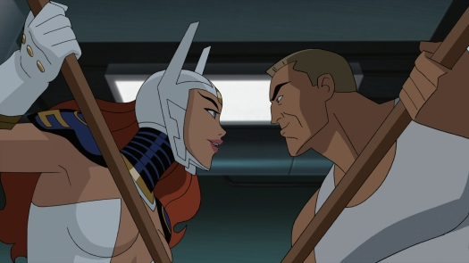 Wonder Woman-Bo Staff Battle!
