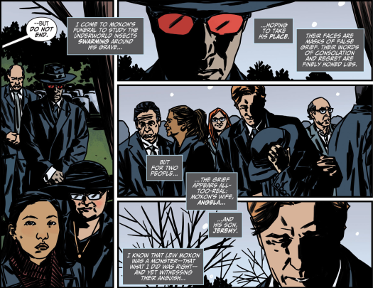 Batman No. 1-Looking From Afar At A Funeral!