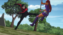 Nightwing & Starfire-Dueling Lovers!