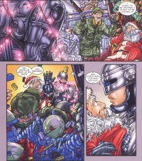 Frank Miller's RoboCop #4-The Holiday Spirit Comes With Injury!
