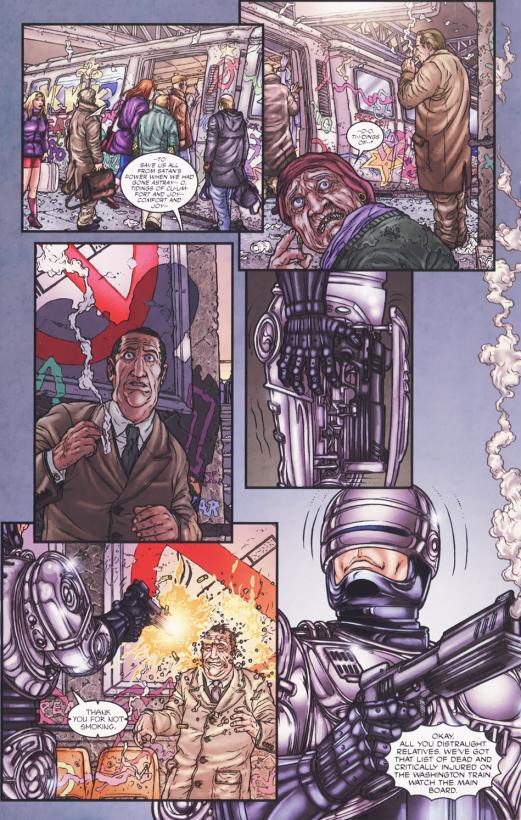 Frank Miller's RoboCop #5-Thank You For Not Smoking!