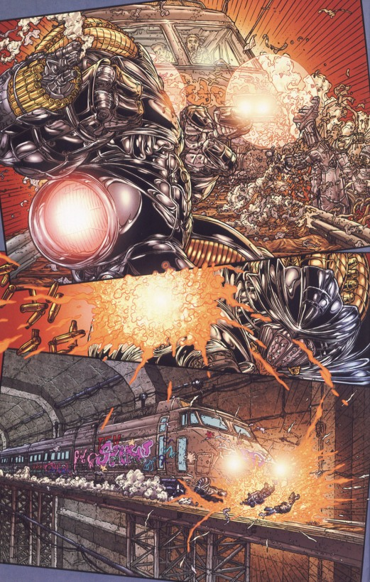 Frank Miller's RoboCop #6-I've Been Run-Over On The Railroad!