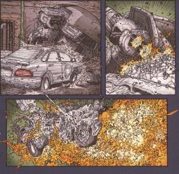 Frank Miller's RoboCop #8-Enemy Gunfire Upon An Enemy!