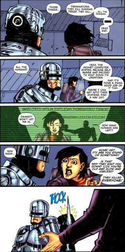 Terminator & RoboCop-Kill Human #1-Let Me Help!