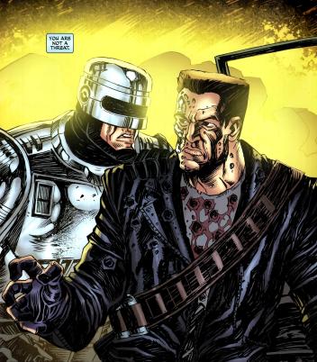 Terminator & RoboCop-Kill Human #2-Confrontation!