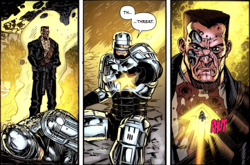 Terminator & RoboCop-Kill Human #2-Take This!