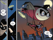 Harley Quinn & Batman #2-Quinn's Unorthodox Means Of Travel!