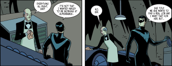 Batman & Harley Quinn #4-Cave Chat With Alfred!