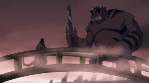 Hellboy-Mano-E-Mano With An Oni!
