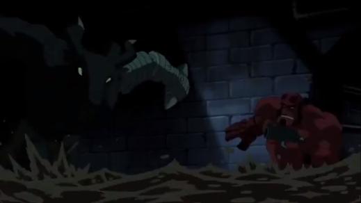 Hellboy-Minotaur Melee!