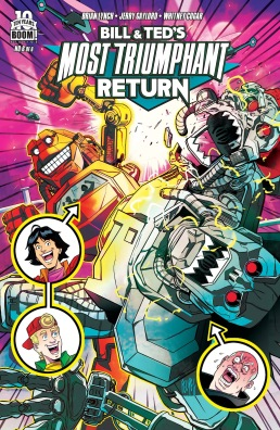 Bill & Ted's Most Triumphant Return #6 Cover!